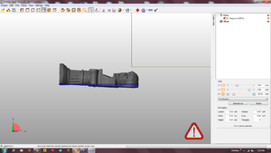 Cutting a bottom using Netfabb