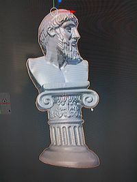 Scan of statue of Poseidon