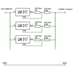 LM317 parallel