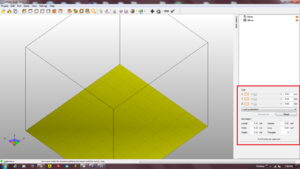 Netfabb with highlighted cut tools